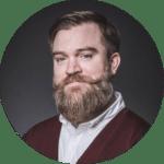 Phil Harvey with a glorious brown beard